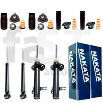 4 Amortecedores Nakata + Kits Ford Fiesta Sedan 2003/2014