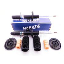 Jogo De Amortecedores Nakata + Kits Coxins Citroen C3 Em 12x