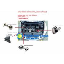 Kit 04 Coxins Motor E Cambio New Civic 06/12 Manual