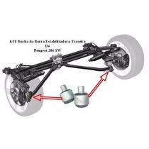 Kit 2 Buchas Da Barra Estabilizadora Traseira Peugeot 206
