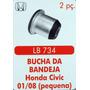 Bucha Da Bandeja Honda Civic 01 Até 08 (pequena) 2 Peças