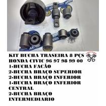 Kit Bucha Suspensão Traseira Honda Civic Ate 2000 Axios 8pçs