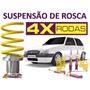 Suspensão De Rosca Uno Regulagem Nas 4 Rodas