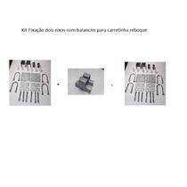 Kit De Fixação De Molas E Eixo+jumelos Carretinha 2 Eixos