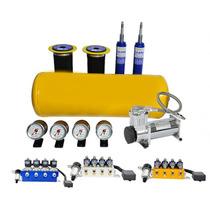 Suspensão Ar Valvulas 8 Em 1 + Compressor 480 Saveiro G4.tun