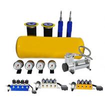 Suspensão Ar Valvulas 8 Em 1 + Compressor 480 Saveiro G5
