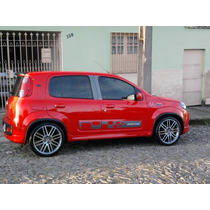 Kit De Suspensão Regulável Rosca Fiat Novo Uno