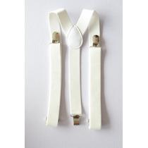 Suspensório Branco Masculino Feminino Qualidade Top Elastico