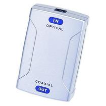 Conversor Adaptador Coaxial Para Optico+ Cabo Coaxial Digit