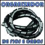 Organizador De Fios E Cabos Espiral 4,5mm 3/16 Preto Branco