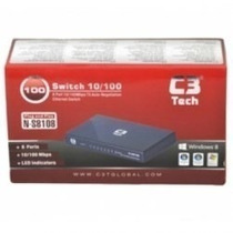 Hub Switch 8 Portas 10/100mbps N-s8108 C3 Tech