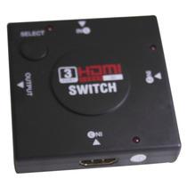 3 Portas Hdmi Hub Divisor Splitter Switcher Slim Hdmi 3x1