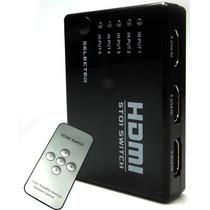 Chaveador Hub Switch Hdmi 5x1 Com Controle Remoto Divisor
