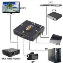 Hub Switch Hdmi 3 Portas Dvd Tv Lcd Led Playstation Xbox