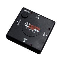 Adaptador Switch Splitter Hdmi 3 Portas (3 Entradas 1 Saída)