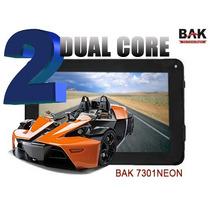 Tablet Bak 7301 Rosa Ou Preto Dual Core 2 Cameras +pelicula