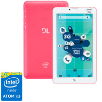 Tablet Dl Socialphone Tx316bra - Atom X3, 8gb - Rosa Neon