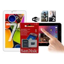Tablet 7 Android 4.2 Celular 2 Chip Tv Digital 1.3ghz Wifi