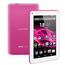 Tablet M7s Rosa Quad Core Android 4.4 Kit Kat Dual Câmera Wi