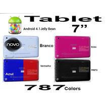 Novo Tablet Foston 787 Rosa Branco Wifi 3g Android Jogos 8gb