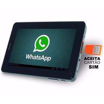 Tablet Android Função Celular Chip Gsm Wifi Tela 7 Até 32gb