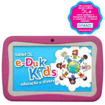 Tablet Dl Eduk Kids 4gb 3g E Android 4.1 Capa Rosa