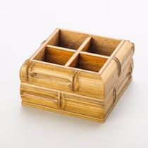 Porta Talher Perfil Bambu 17,5x17,5x10cm Woodart R 11626