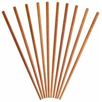 Chopsticks - 10x Oriental Chinese Reutilizável De Bambu De