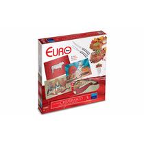 Kit Churrasco Euro 3pçs Com Tabua De Vidro