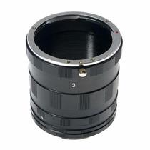 Tubo Extensor Macro Amplia Fotografia Cameras Canon Dslr Eos