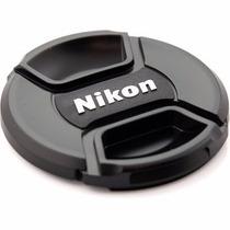 Tampa De Lente Para Canon Nikon 52mm 58mm 67mm 72mm 77mm