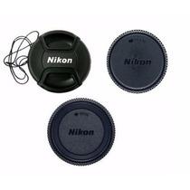 Kit 3 Pcs Tampa Nikon P/lente 18-55mm D3000 D5000 D5500