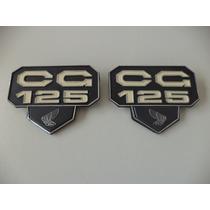 Emblema Tampa Lateral Cg 125 77 Ate 82 Bolinha Honda (par)