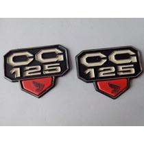 Emblema Tampa Lateral Honda Cg 77 A 82 Bolinha