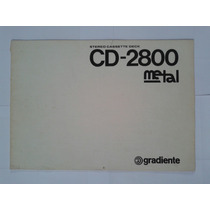 Manual Original Tape Deck Gradiente Cd2800