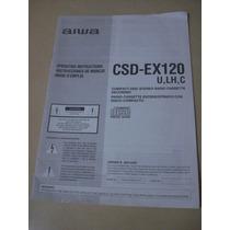 Manual De Instruções Aparelho De Som Aiwa Csd-ex 20
