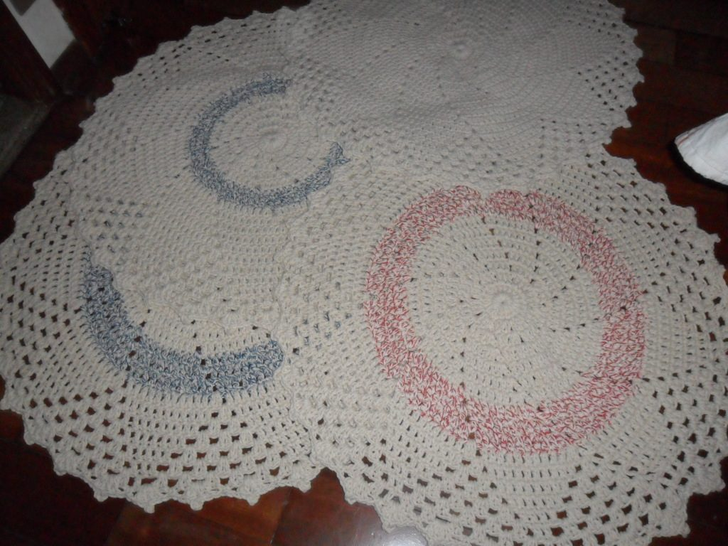 Tapete De Barbante Novo Tapete De Barbante Novo 2 Cores Azul E Cinza #241614 1024 768