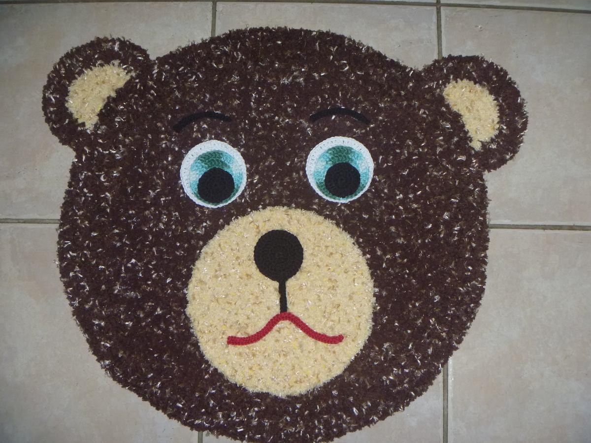 Tapete Infantil Urso Ou Ursa De Croche R$ 62,00 no  ~ Tapete Infantil Para Quarto Urso