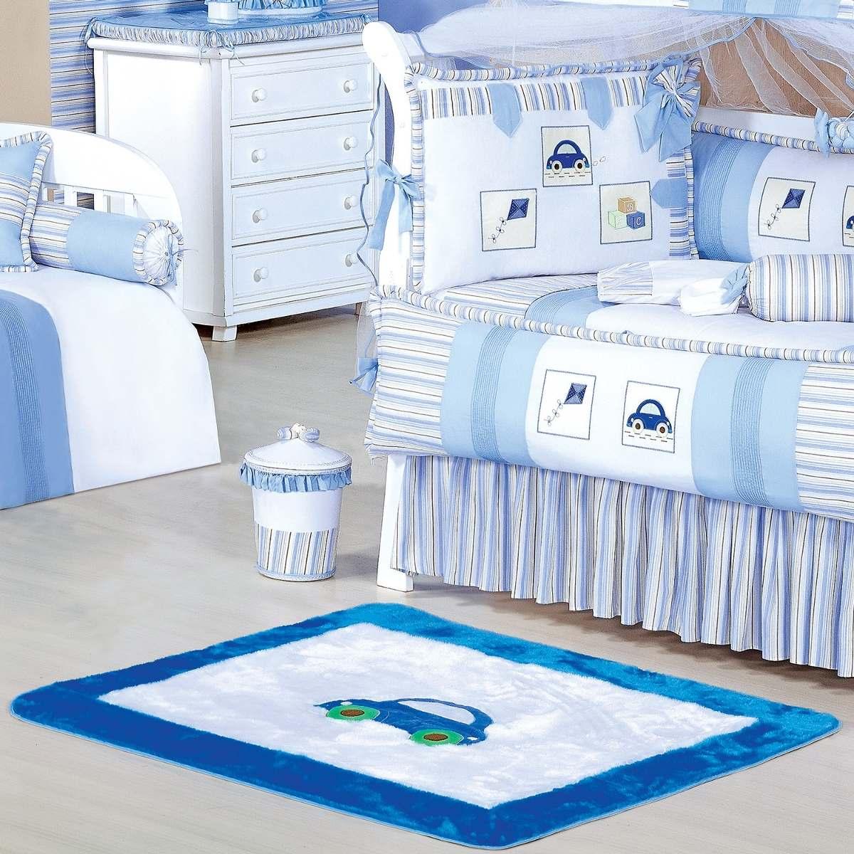 Tapete Para Quarto De Bebê Azul Menino Conforto Diversão  ~ Ver Tapetes Para Quarto Infantil