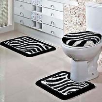 Jogo De Banheiro Jolitex Fina Arte 3 Peças Zebra! Promoção