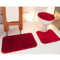 Jogo Para Banheiro Classic Cereja - Tapete Oasis