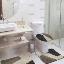 Jogo De Banheiro 3 Peças Riviera Lados - Jolitex