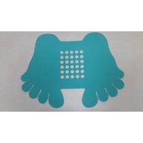 Tapete Pezinho P/box De Banheiro Antiderrapante 45x22 Verde