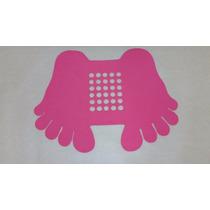 Tapete Pezinho P/box Banheiro Antiderrapante 45x22 Vermelho