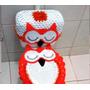 Jogo De Banheiro Croche, Croche, Coruja,algodão, 2 Peças