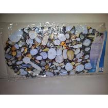 Tapete Para Banheiro Desenho Pedras Antiderrapante Pvc