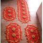 Jogo De Tapete Em Croche Para Cozinha 4 Peças