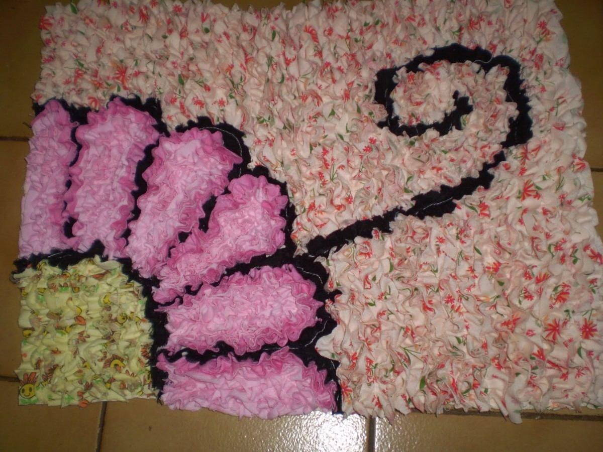 Tapete Patchwork Simples : Tapetes De Retalho Flor E Carrinho – R$ 13,00 no MercadoLivre