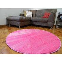 Tapete P/ Sala Quarto Escritório Redondo Rosa 1,20x1,20