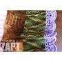 Manta Hippie Cores (tricô Artesanal/grande)- Zapt Artesanato
